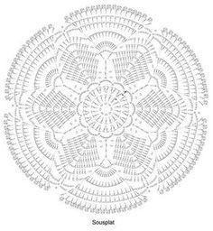 Patterns and motifs: Crocheted motif no. Crochet Mat, Crochet Dollies, Crochet Mandala Pattern, Crochet Circles, Crochet Stitches Patterns, Crochet Round, Thread Crochet, Crochet Designs, Lace Doilies