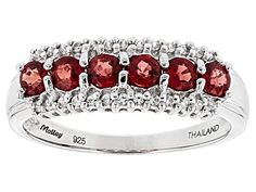 Exotic Jewelry Bazaar™ .98ctw 3.5mm Round Orange Sapphire and .14ct