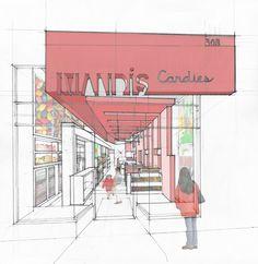 MANDI'S CANDY SHOP by Michael Grogan Architect. Du bonbon !
