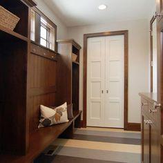 Dark Wood Trim w/ white doors