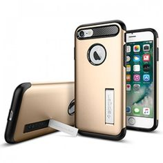 Spigen Slim Armor Case for Apple iPhone 7 - Champagne Gold - Retail Packaged - The Spigen Slim Armor case is the slimmed down protective option for your iPhone 7. With Air Cushion Technology and a two-piece build, it delivers military-grade protection (MIL-STD 810G 516.6) for security against drops and impacts. Its unique style sets it apart from other bulky cases. www.lambertpaint.com