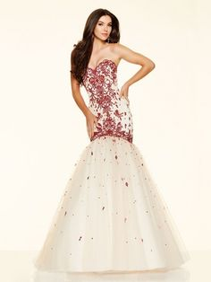 Trumpet/Mermaid Sleeveless Sweetheart Beading Tulle Floor-Length Dresses http://www.sheadline.com  http://www.sheadline.com/index.php/prom-dresses.html