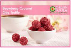 Strawberry Coconut Chia Truffle