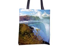 """Tote Bag - """"Niagara Falls"""" http://www.lawleypop.ca/shop/product/tote-bag-niagara-falls/ OFFICIAL LAWLEYPOP MERCHANDISE #allover #full #seamless #doublesided #print #printed #printing #lawleypop #lwleypop #lawleypopdesign #lawleypopmerch #fashion #accessories #style #bags #totes #totebags #handbags #shoulderbags #chic #street #urban #unique #custom #photography #landscape #nature #usa #canada #horseshoe #falls #water #landmark #forest #blue #day #summer #water #hydro #label #logo #brand #free"""