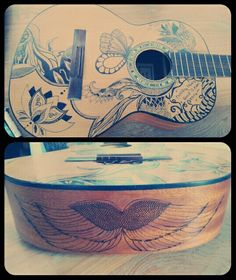 Sharpie guitar art. Diy