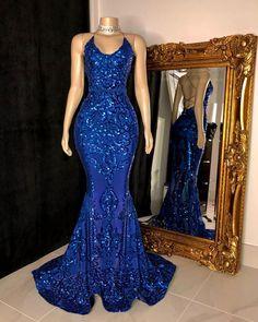 Black Girl Prom Dresses, Blue Mermaid Prom Dress, Royal Blue Prom Dresses, Pretty Prom Dresses, Gala Dresses, Blue Gown Dress, Royal Blue Outfits, Fitted Prom Dresses, Best Prom Dresses