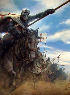 Charging Knights Templar