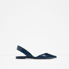 Image 1 of EMBOSSED SLINGBACK SHOES from Zara