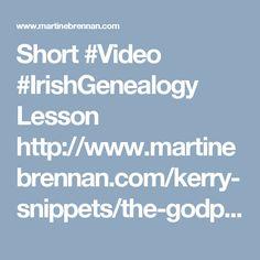 The Godparents~a video lesson in using Church Records in Irish Genealogy Records Genealogy, Roots, Irish, Irish Language, Ireland
