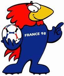 Mascotas del Mundial de Fútbol Francia 1998. El gallo Footix de Francia