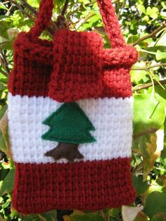 Carry Pouch Lebanese Flag by PinkFrog4U on Etsy, $9.00