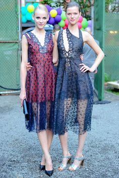 Ginta Lapina and Kasia Struss at Stella McCartney's Resort 2015 Garden Party and Presentation.