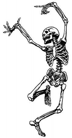 Dancing Skeleton Clip Art - Unknown Source
