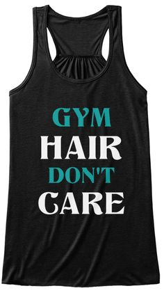 Wrkout Tank Gym Hair Don't Care Tank Top Flowy Racerback Workout Custom Colors You Choose Size & Colors
