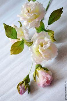 Купить Цветы из шелка, Ветка Сад Ангелов - лимонный, букет, букет цветов, букет роз