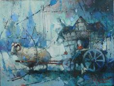 "Waclaw Sporski ""Eurotrip"" 30х40 Oil On Canvas sporskiart.com"