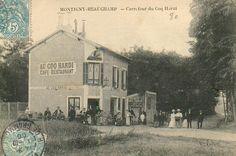 """Le café-restaurant """"Au Coq Hardi"""" de Montigny-Beauchamp en 1906 http://www.geneanet.org/search/collection"""