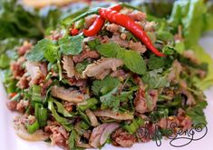 Thursday, September 2014 Thai Tanic II is now closed, Laotian restaurant Thip Khao opening there in the fall Vietnamese Recipes, Asian Recipes, Asian Foods, Thai Recipes, Asian Salads, Vietnamese Food, Papaya Salad Laos, Dc Food