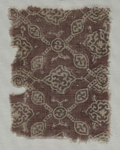cotton, Overall - cm inches). Textile Prints, Textiles, Cleveland Museum Of Art, Indian Fabric, Medieval Fashion, 15th Century, Fabric Art, Vintage Patterns, Printing On Fabric