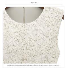 Blusa Renda Guipir Croche [Lace Pierced blouse]