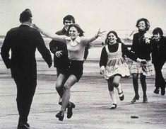 Symbolizing the end of the Vietnam War.  A prisoner of war comes home in 1973.