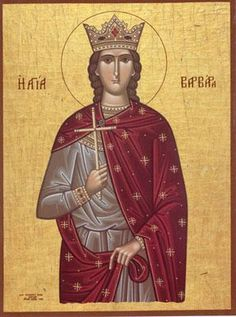 Orthodox Icons of Saints Cross Stitch - Eastern Giftshop Saint Barbara, Biblical Art, Patron Saints, Orthodox Icons, I Icon, Christianity, Cross Stitch Patterns, Statue, Angeles