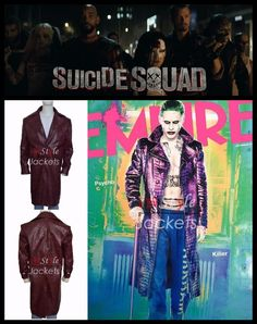 The upcoming movie Suicide Squad Jared Leto crocodile coat is now available at Instylejackets Store and we are giving exclusive discount on it plus easy return and exchange policy.  #Suicidesquad #jaredleto #joker #crocodilecoat #menwear #fashion #fashionista #clothing #outfits #sale