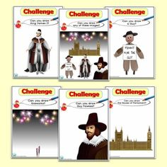 ICT Drawing Challenges for the Foundation Phase, to help promote ICT skills across the curriculum. Bonfire Night Ks1, Bonfire Night Resources, Bonfire Night Guy Fawkes, Guy Fawkes Night, Bonfire Ideas, Teaching Activities, Activities For Kids, Teaching Ideas, Drawing Challenge