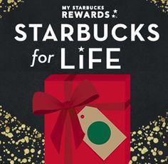 Starbucks For Life Sweepstakes (1 Million Winners) on http://hunt4freebies.com