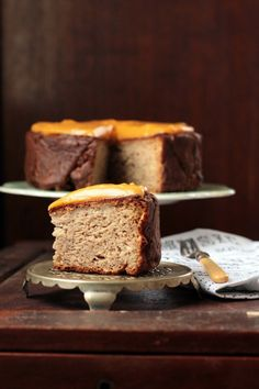 Parsnip, Maple, and Nutmeg Cake with Sweet Potato and Ginger Frosting.