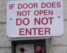 If door does not open...