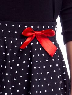 Patsy Dots Skirt black