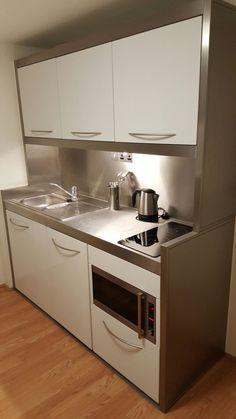 Studio Apartment Kitchen Units Luxury 30 Mini Kitchen Set Design Ideas for Tiny Apartment Very Small Kitchen Design, Kitchen Tiles Design, Kitchen Cabinet Design, Modern Kitchen Design, Small Kitchen Set, Compact Kitchen, Home Interior, Kitchen Interior, Kitchen Decor