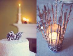 diy winter candle place settings favors centerpiece ideas