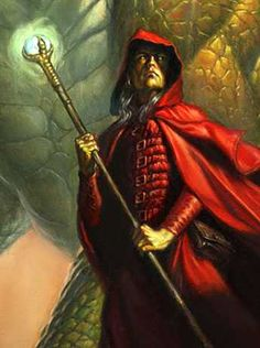 Raistlin, detail art by Todd Lockwood