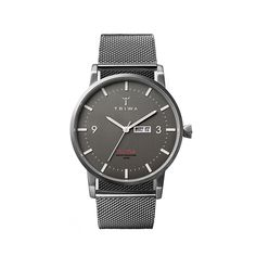 Dusk Klinga is a super slim 38mm mid-century inspired watch that has been given TRIWA contemporary features. Although the silhouette is reminiscent of more classical designs, Klinga is infused with modern Scandinavian details such as sharp lugs and a conical crown. This juxtaposition of characteristics is what gives Klinga its TRIWA DNA. It is powered by a Japanese Citizen Miyota three hand movement, with day and date displays on the dial. Dusk Klinga is paired with a stainless steel mesh…