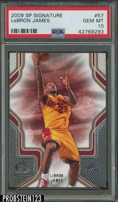 2009 SP Signature #57 Lebron James Cleveland Cavaliers PSA 10 POP 1 #LeBronJames #PSA10 #sportscards
