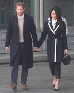 Harry and Meghan leave after their visit to Millennium Point in Birmingham this afternoon...