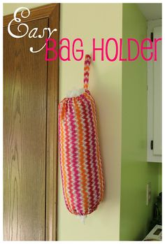 Easy Grocery Bag Holder