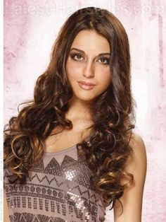Long Hairstyles for Square Faces Soft Brunette Curls and Waves Crazy Curly Hair, Long Curly Hair, Casual Hairstyles, Latest Hairstyles, Hair Styles 2014, Curly Hair Styles, Caramel Ombre Hair, Square Face Hairstyles, Long Hair With Bangs
