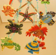 Baby Boy Girl Life Under the Sea Crib Cradle Nursery Mobile Quilled Handmade. $59.99, via Etsy.
