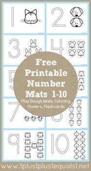 FREE Number Coloring Printable