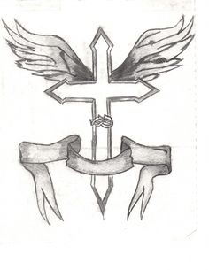 cross jesus simple drawings christian sketch pencil easy crosses sharpie drawing sketches cartoon tattoo faith designs animal paintingvalley