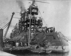 Russian Battleship Tsesarevich, built at Forge des Chantiers de la Mediteranee, France.