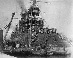 Russian Battleship Tsesarevich.
