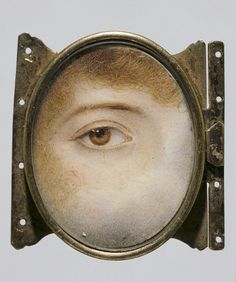 Eye, by Charles John Smart (1741-1811), miniature watercolour in ivory in case, England, late 19th century. Photo: Copyright © Victoria and Albert Museum, London / V&A Images