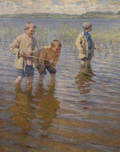 Nikolay Bogdanov - PESCA AO MEIO-DIA - 1917
