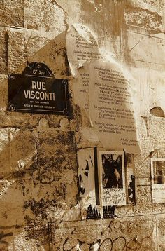 Rue Visconti - Paris 6e ; Là ou j'ai habité