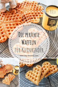 [Werbung] Die perfekten Apfel-Dinkel-Waffeln für Kleinkinder Are you looking for the perfect waffles for toddlers? The apple-spelled waffles are not only delicious for small predators, they als Healthy Dessert Recipes, Baby Food Recipes, Sweet Recipes, Healthy Snacks, Snack Recipes, Waffel Vegan, Low Fat Cake, Caramel, Cupcakes