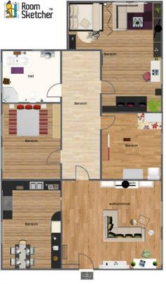 An Aerial View Of An Executive Home With Child S Room By Our Designer Of The House Blueprintspottery Barn